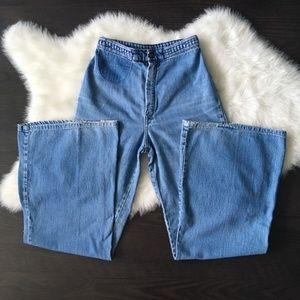 Denim - Vintage 90s High Rise Wide Leg Flare Jeans